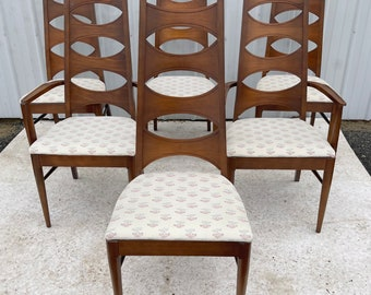 Mid-Century High Back Dining Chairs from Kent Coffey- set of Six