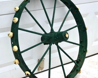 Vintage Carriage Wheel