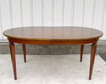 Mid-Century Dining Table With Three Leaves