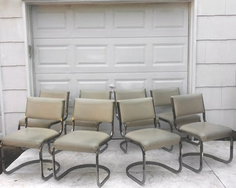 Vintage Modern Cantilever Chairs- Set of Eight
