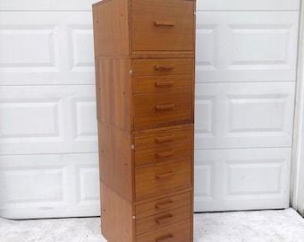 Vintage Teak Filing Cabinets by Jesper