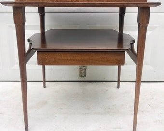 Mid-Century End Table with Drawer