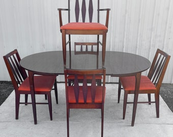 Mid-Century Modern Dining Set w/ Five Chairs