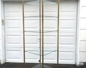 Mid-Century Modern Brass Display Shelf,