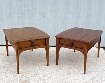 """Pair Mid-Century """"Perspecta"""" Side Tables by Kent Coffey"""
