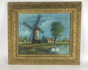 19th Century Oil Landscape Painting by Henri Maes