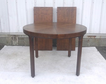 Mid-Century Round Dining Table wth Leaves by John Stuart