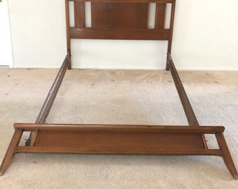 Mid-Century Modern Full Size Walnut Bed