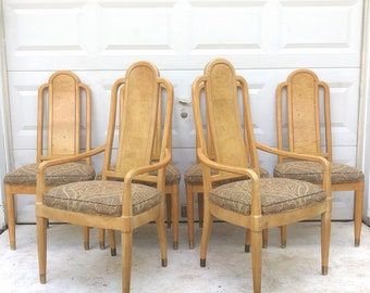 Vintage Modern Dining Chairs by Henredon- Set of Six