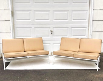 Mid-Century Modern Spoke Back Loveseat or Sofa