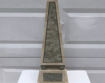 Vintage Modern Maitland-Smith Style Obelisk