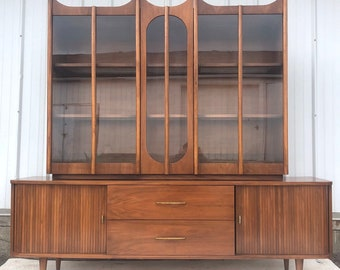 Mid-Century Sideboard with China Cabinet Top
