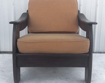 Mid-Century Modern Walnut Frame Lounge Chair