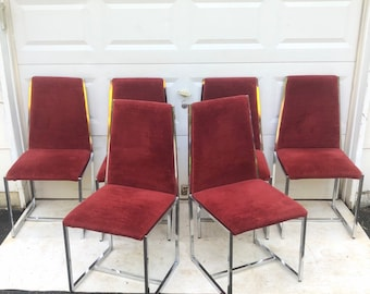 Set of Six Vintage Dining Chairs by Bassett