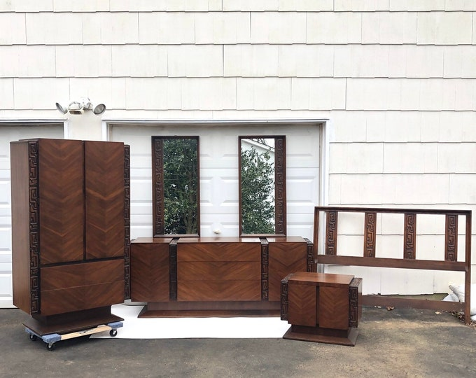 Mid-Century Witco Style Bedroom Set by United Furniture