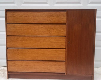 Scandinavian Modern Teak Gentleman's Chest