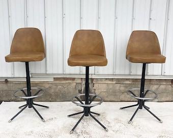 Mid-Century Swivel Barstools- Set of Four