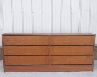 Vintage Modern Teak Bedroom Dresser