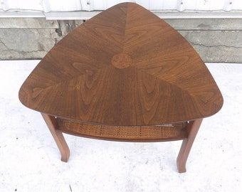Mid-Century Triangular Side Table