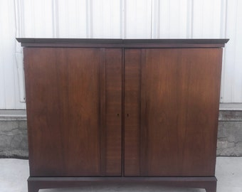 Mid-Century Modern Expanding Bar Cabinet