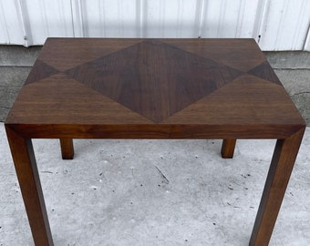 Vintage Modern Walnut Side Table by Lane