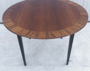 Mid-Century Dining Table With Two Leaves