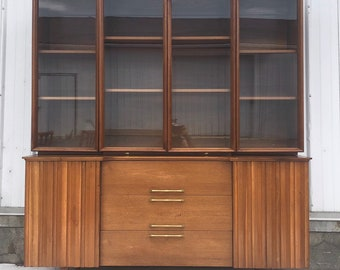 Mid-Century Modern Sideboard with Display Topper