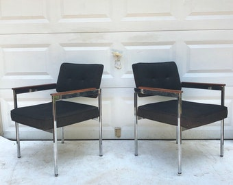 Pair Vintage Office Chairs by Shaw Walker