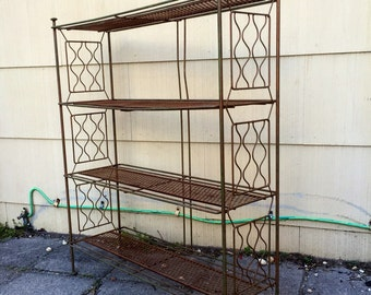 Russell Woodard Style Metal Shelf, mid-century style