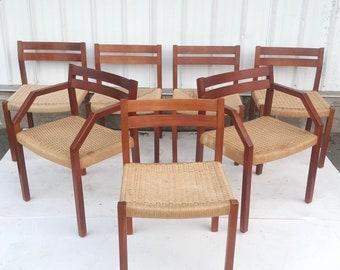 J.L Møller 401 Dining Chairs- Set of 7
