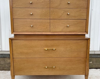 Mid-Century Modern Highboy Dresser from Kent Coffey