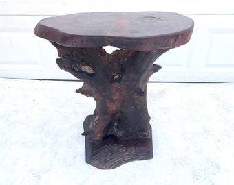 Rustic Modern Live Edge Side Table