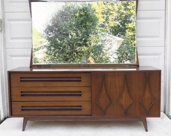 Mid-Century Modern Dresser with Sliding Front