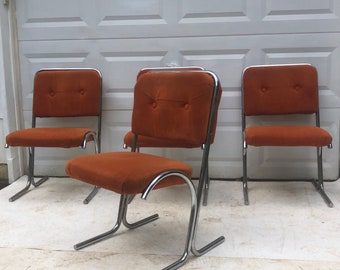 Vintage Modern Dining Room Chairs- Set of Four