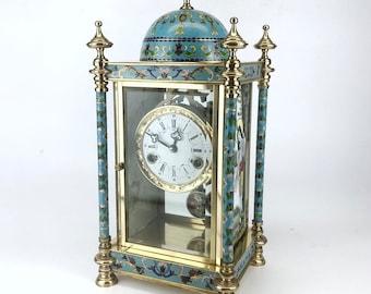 Vintage Enamel Table Clock, C. 20th Century Style