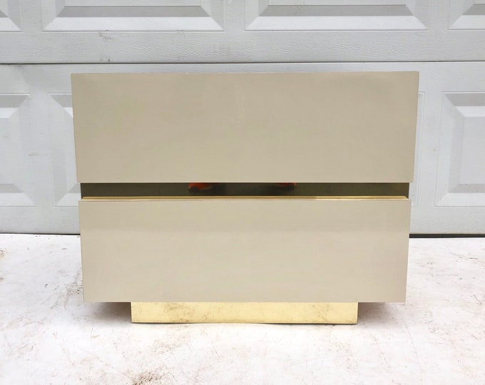 Vintage Modern Two Drawer Nightstand