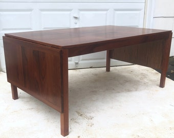 Mid-Century Rosewood Dining Table With Two Leaves by Vejle Stole