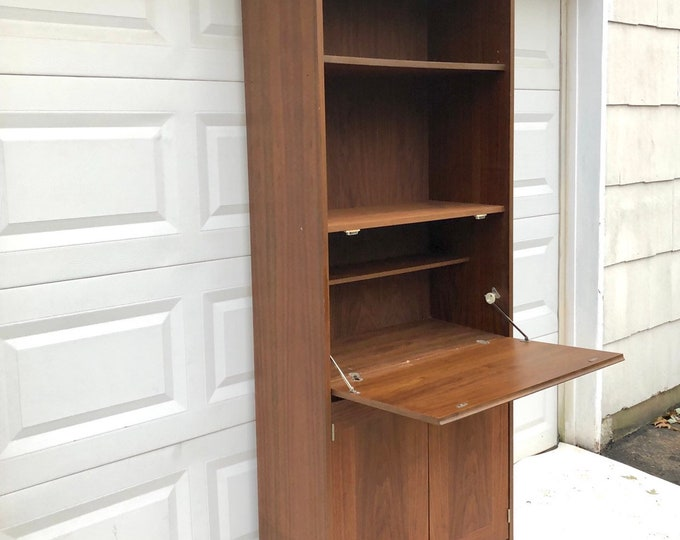 Mid-Century Modern Drop Front Bookcase