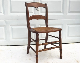 Antique Side Chair With Cane Seat