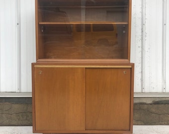 Mid-Century Modern Cabinet with Display Top