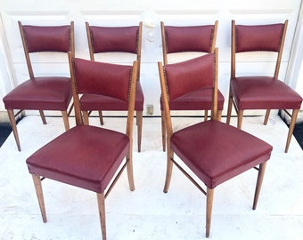 Set of Six Mid-Century Dining Chairs