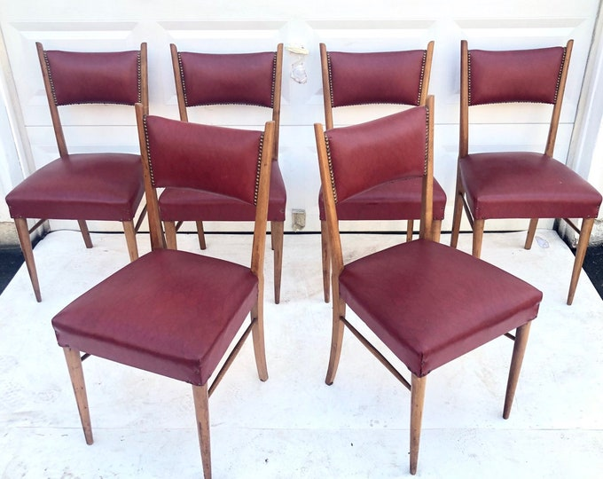 Featured listing image: Mid-Century Italian Modern Dining Chairs
