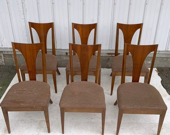 Mid-Century Modern Dining Room Chairs- Set of Six