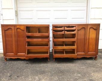 Pair Vintage John Widdicomb Bedroom Dressers