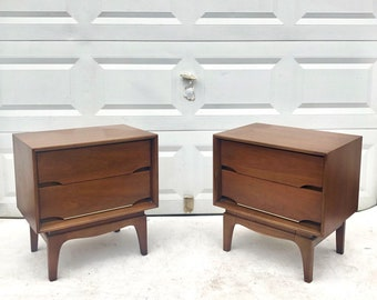 Pair Kent Coffey Mid-Century Nightstands