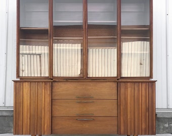 Mid-Century Sideboard with China Cabinet