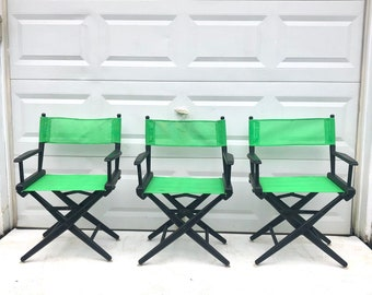 Set of Three Director Style Chairs
