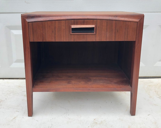 Mid-Century Single Drawer Nightstand