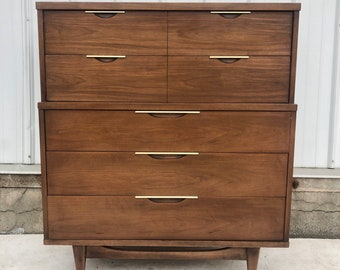 "Mid-Century Highboy ""Tableau"" Dresser by Kent Coffey"