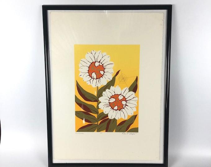 """Vintage Artist Print """"Sunflower"""" by Ann T. Cooper"""
